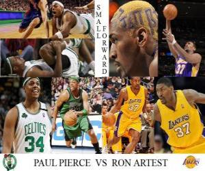puzzel NBA Finals 2009-10, small forward, Paul Pierce (Celtics) vs Ron Artest (Lakers)