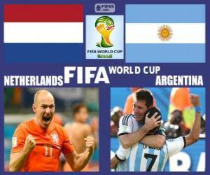 puzzel Nederland - Argentinië, halve finales, Brazilië 2014