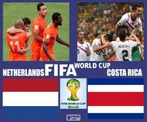 puzzel Nederland - Costa Rica, kwartfinales, Brazilië 2014
