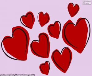 puzzel Negen rode harten