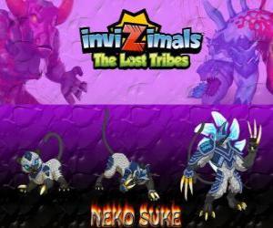 puzzel Neko Suke, laatste evolutie. Invizimals The Lost Tribes. Deze sluipende invizimal is een meester van misleiding