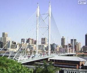 puzzel Nelson Mandela brug, Johannesburg, Zuid-Afrika