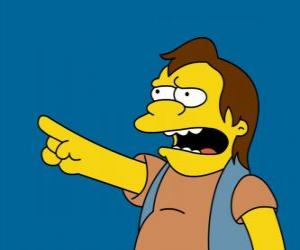 puzzel Nelson Muntz, af en toe de vriend van Bart en Lisa's ex-vriendje.