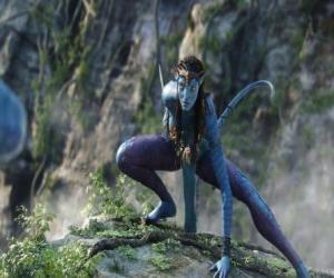 puzzel Neytiri, een na'vi, een ras van mensachtigen van de planeet Pandora met een lange staart