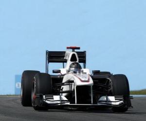 puzzel Nick Heidfeld - Sauber - Interlagos 2010