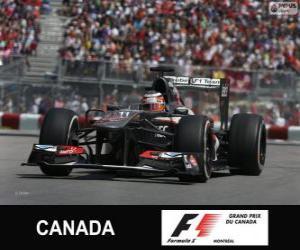 puzzel Nico Hülkenberg - Sauber - Circuit Gilles Villeneuve, Montréal, 2013