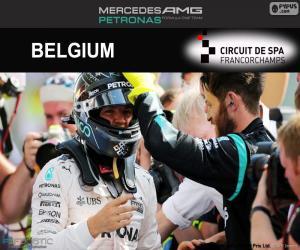 puzzel Nico Rosberg, de Belgische Grand Prix 2016