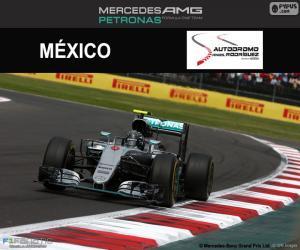puzzel Nico Rosberg, de Mexicaanse Grand Prix 2016