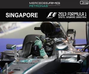 puzzel Nico Rosberg, Grand Prix van Singapore 2016