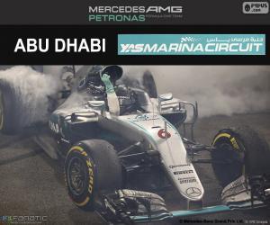 puzzel Nico Rosberg, Grand Prix van Abu Dhabi 2016
