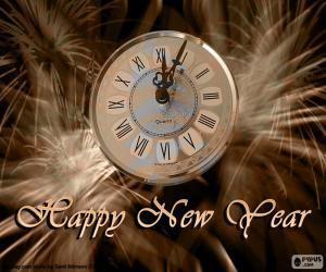 puzzel Nieuwjaar klok