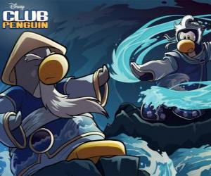 puzzel Ninja pinguins, personage uit de beroemde Club Penguin