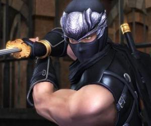 puzzel Ninja strijder met zwaard in de hand
