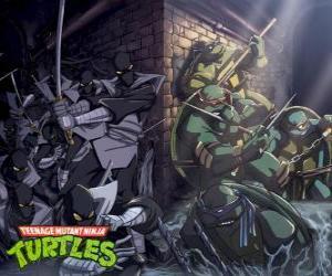 puzzel Ninja Turtles in actie