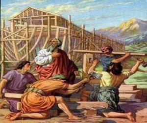 puzzel Noach bouwde zijn ark te redden van de universele vloed aan de uitverkorenen
