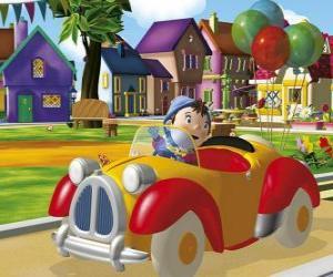 puzzel Noddy rijden uw auto