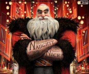 puzzel NOORD, beter bekend als kerstman. Karakter van de De Vijf Legendes
