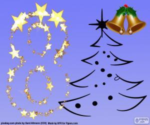 puzzel Nummer 8 voor Kerstmis