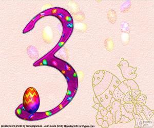 puzzel Nummer drie van Pasen