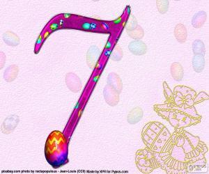 puzzel Nummer zeven van Pasen