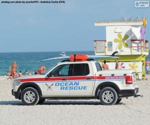puzzel Oceaan Rescue auto van Miami Beach