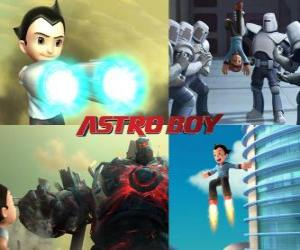 puzzel Of Astro Boy Astroboy, vechten tegen zijn vijanden