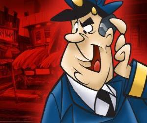 puzzel Officer Dibble, de politieagent die ziet er na het steegje van Top kat en zijn bende