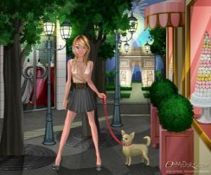 puzzel Oh My Dollz, wandelen met de hond