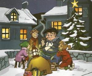 puzzel Olentzero is een personage brengt presenteert op eerste kerstdag in het Baskenland en Navarra