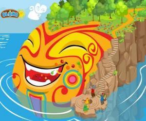 puzzel Oloka. Creëer je eigen wereld in online strategie spel voor slimme kinderen