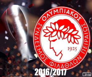 puzzel Olympiakos FC kampioen 2016-2017
