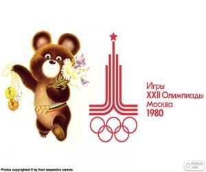 puzzel Olympische spelen-Moskou 1980