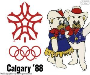 puzzel Olympische Winterspelen van 1988 die in Calgary