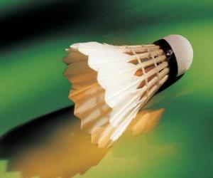 puzzel Om te spelen badminton shuttle