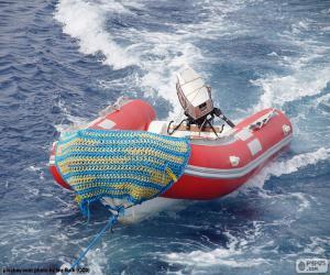puzzel Opblaasboot