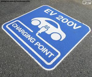 puzzel Opladen van elektrische auto 's