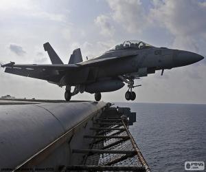 puzzel Opstijgen van een vliegtuig F18