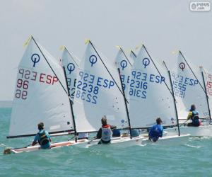 puzzel Optimist regatta