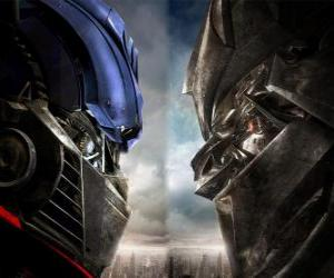 puzzel Optimus vs Megatron