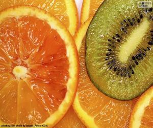 puzzel Oranje en Kiwi