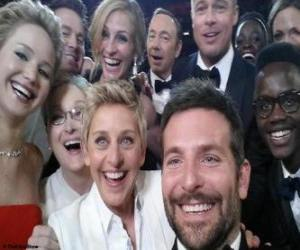 puzzel Oscars 2014, selfie