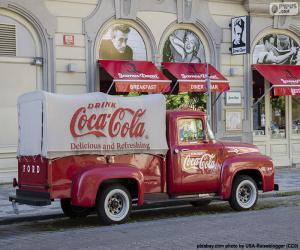 puzzel Oude Coca-Cola truck