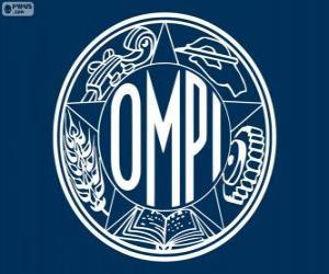 puzzel Oude logo van de WIPO, Wereldorganisatie voor de Intellectuele Eigendom