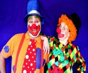 puzzel Paar clowns