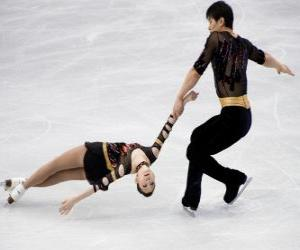 puzzel Paar schaatsen is een discipline van het kunstschaatsen