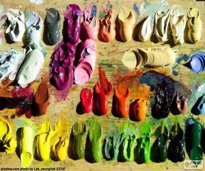 puzzel Palet van kleuren