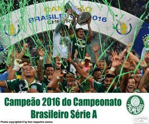 puzzel Palmeiras, 2016 Brazilië kampioen