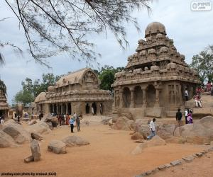 puzzel Pancha Rathas, India