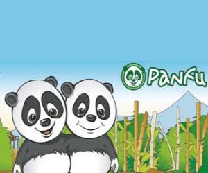 puzzel Panfu panda ter wereld