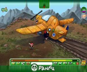 puzzel Panfu vliegtuigongeluk